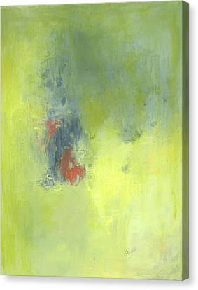 Green Abstract Canvas Print by Andrea Friedell