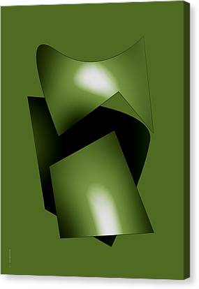 Green Abstract Geometry Canvas Print by Mario Perez