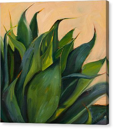 Green Agave Right Canvas Print by Athena Mantle