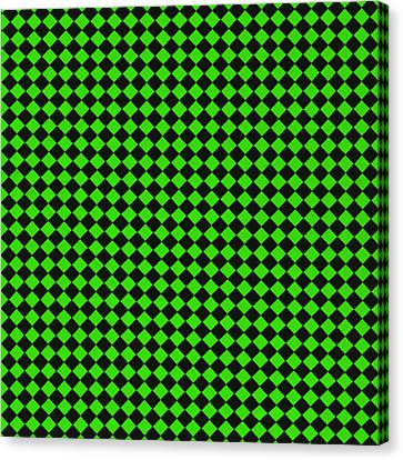 Green And Black Checkered Pattern Cloth Background Canvas Print by Keith Webber Jr