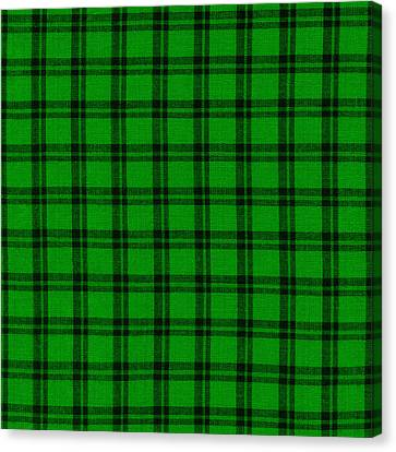 Green And Black  Plaid Cloth Background Canvas Print by Keith Webber Jr