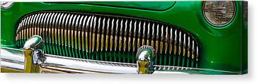 Green And Chrome Teeth Canvas Print by Mick Flynn