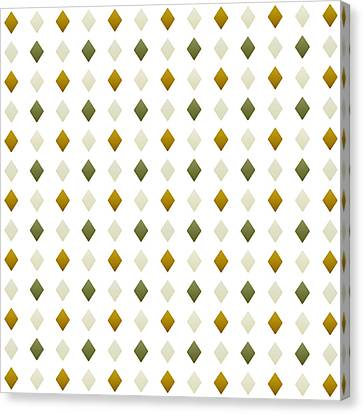 Green And Gold Diamond Pattern Canvas Print by Christina Rollo