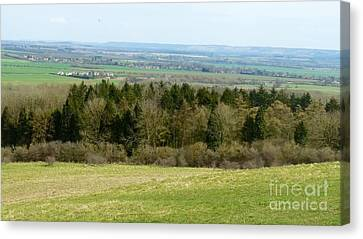 Green And Pleasant Land Canvas Print by Julie Koretz