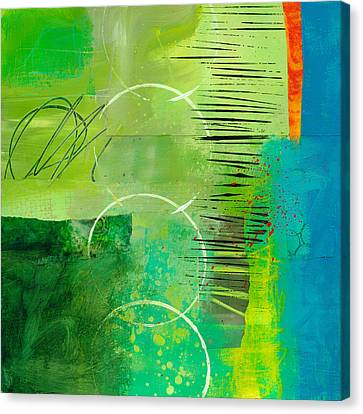 Green And Red 5 Canvas Print by Jane Davies