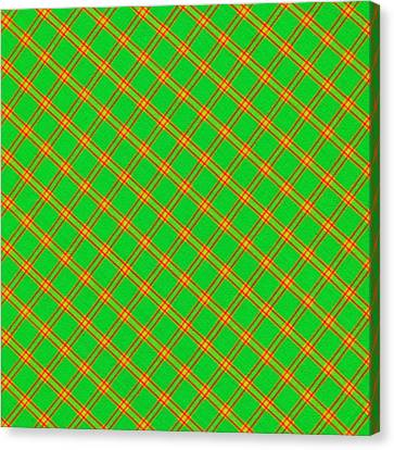 Traditional Quilt Canvas Print - Green And Red Fabric Background by Keith Webber Jr