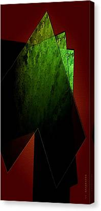 Green And Red Canvas Print by Mario Perez