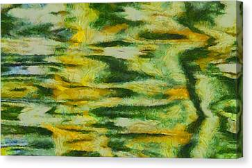 Green And Yellow Abstract Canvas Print by Dan Sproul