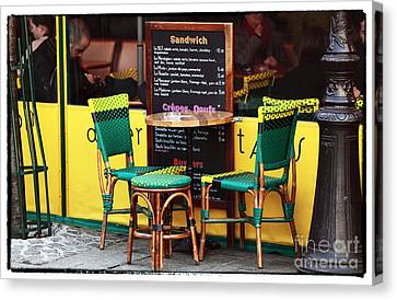 Green And Yellow In Paris Canvas Print by John Rizzuto