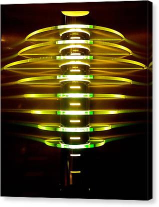 Green And Yellow Light Reflectors Canvas Print by Kirsten Giving