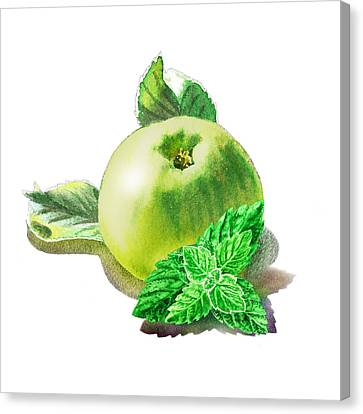 Green Apple And Mint Happy Union Canvas Print by Irina Sztukowski