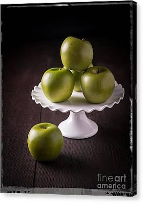 Green Apple Still Life Canvas Print by Edward Fielding