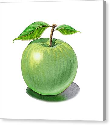 Green Apple Still Life Canvas Print