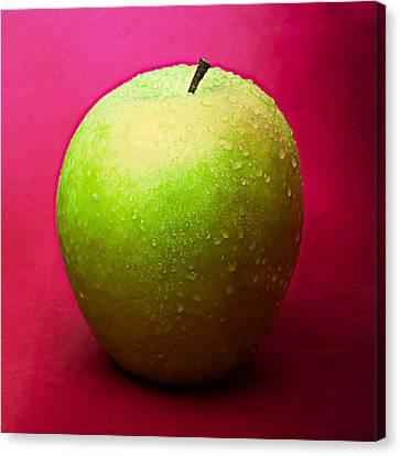 Green Apple Whole 1 Canvas Print