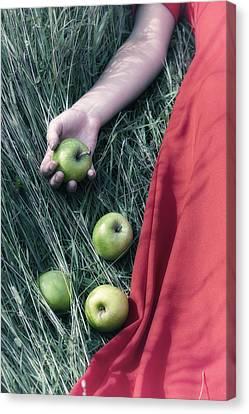 Green Apples Canvas Print by Joana Kruse
