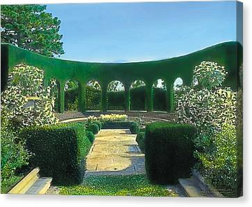 Green Arches Canvas Print by Terry Reynoldson