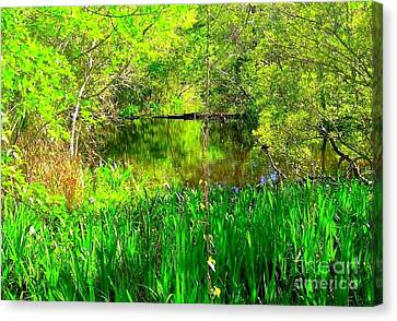 Canvas Print featuring the photograph Green As Emerald's by Michael Hoard
