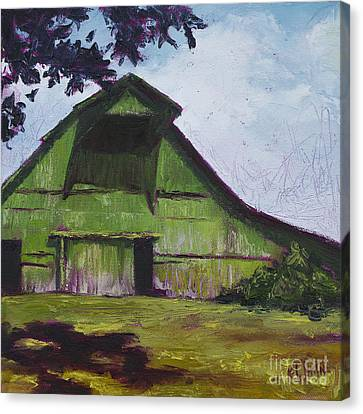 Green Barn Canvas Print by Kristin Whitney