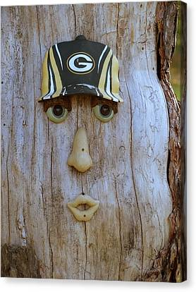 Green Bay Packer Humor Canvas Print by Kay Novy