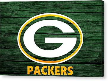 Green Bay Packers Barn Door Canvas Print by Dan Sproul