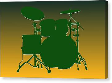 Green Bay Packers Drum Set Canvas Print by Joe Hamilton