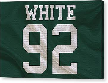 Green Bay Packers Reggie White Canvas Print by Joe Hamilton