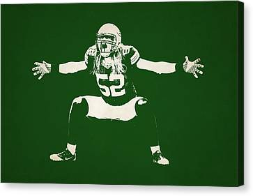 Green Bay Packers Shadow Player Canvas Print