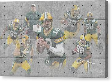 Football Canvas Print - Green Bay Packers Team by Joe Hamilton