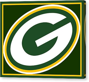 Pop Culture Canvas Print - Green Bay Packers by Tony Rubino