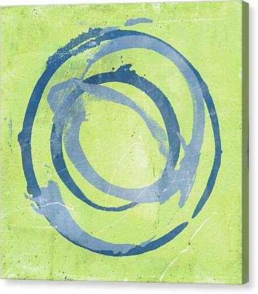 Abstract Expressionism Canvas Print - Green Blue by Julie Niemela