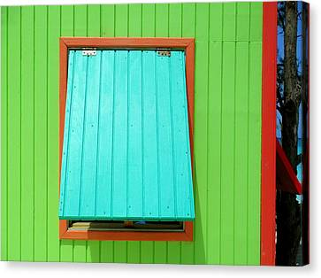 Green Cabin Canvas Print by Randall Weidner