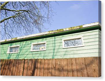 Cabin Wall Canvas Print - Green Cabin by Tom Gowanlock