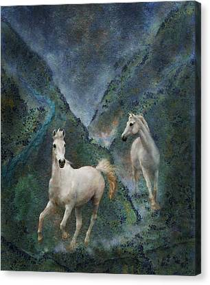 Green Canyon Run Canvas Print