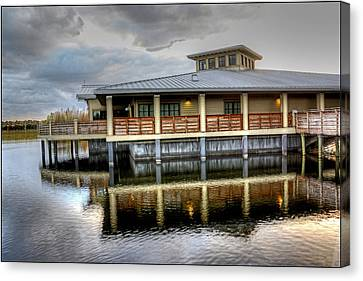 Green Cay Building Canvas Print by Allan Einhorn