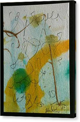 Green Circle Abstract Canvas Print by Gloria Cooper