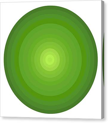 Green Circles Canvas Print