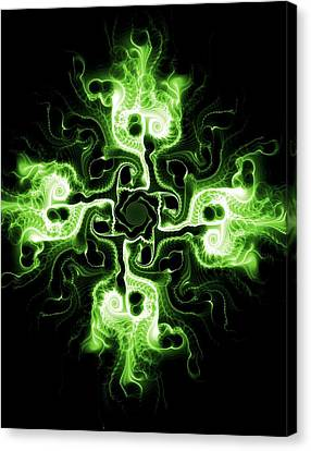 Green Cross Canvas Print by Anastasiya Malakhova