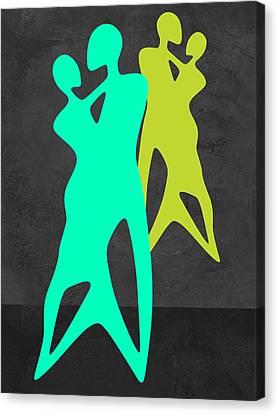 Green Dance Canvas Print by Naxart Studio