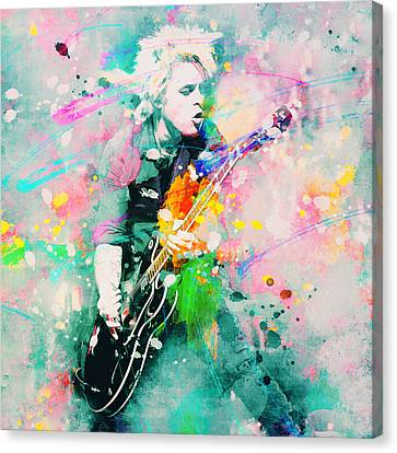 Green Day  Canvas Print by Rosalina Atanasova
