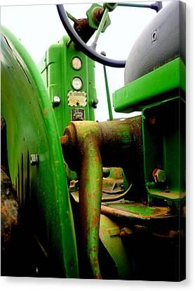 Green Deere Canvas Print by Michael Allen