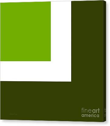 Green Eggs And Ham Square Canvas Print by Andee Design