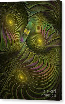 Green Envy Canvas Print by Deborah Benoit