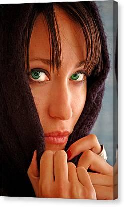 Green Eyed Beauty Canvas Print