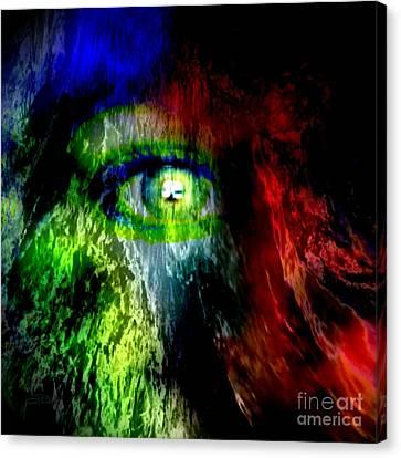 Green Eyed Canvas Print
