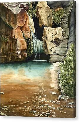 Green Falls II Canvas Print