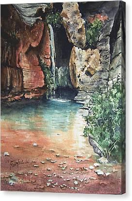Green Falls Canvas Print by Sam Sidders