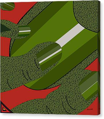 Green Fickle Fingers Of Faith Canvas Print
