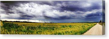 Green Fields Canvas Print by Eric Benjamin