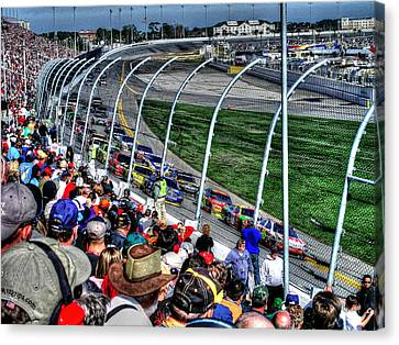 Green Flag 2010 Daytona 500 Canvas Print by Craig T Burgwardt
