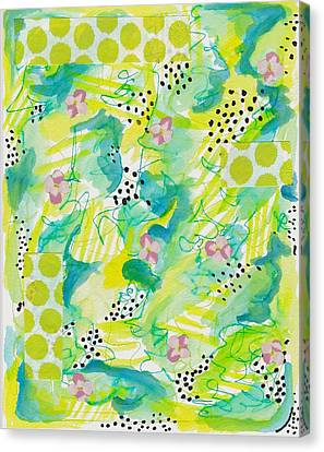Green Floral Abstract Canvas Print